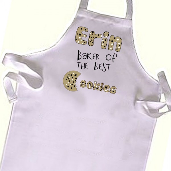 Baker of the best Cookies, Chef  Kids Apron. Great Gift For Your Little Girls & boys