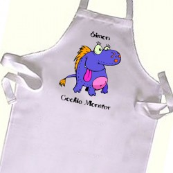 Purple Cookie Monster Kids Apron. Great Gift For Your Little Girls & Boys