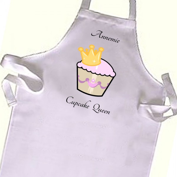 Cup Cake Queen, Cooking  Kids Apron. Great Gift For Your Little Girls & boys