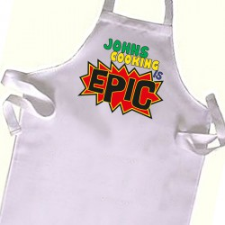 The most Epic Cook, Chef  Kids Apron. Great Gift For Your Little Girls & boys