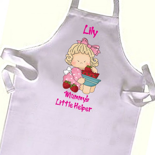 Cute Kitchen cooking helper, Chef  Kids Apron. Great Gift For Your Little Girls & boys