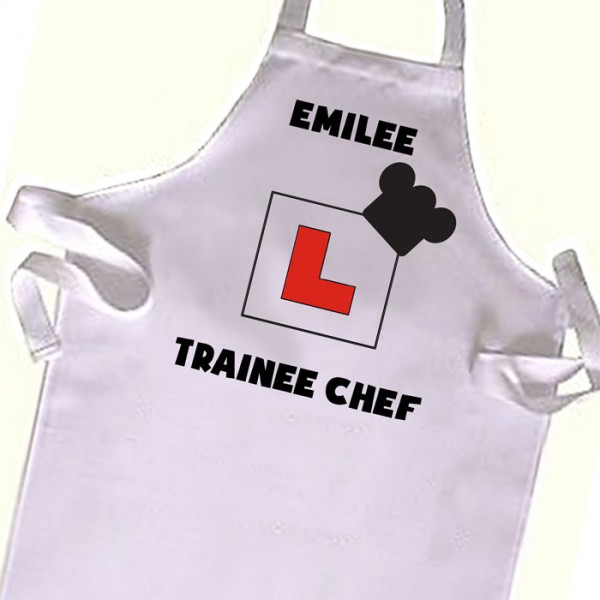 Learner plate, Chef cook  Kids Apron. Great Gift For Your Little Girls & boys