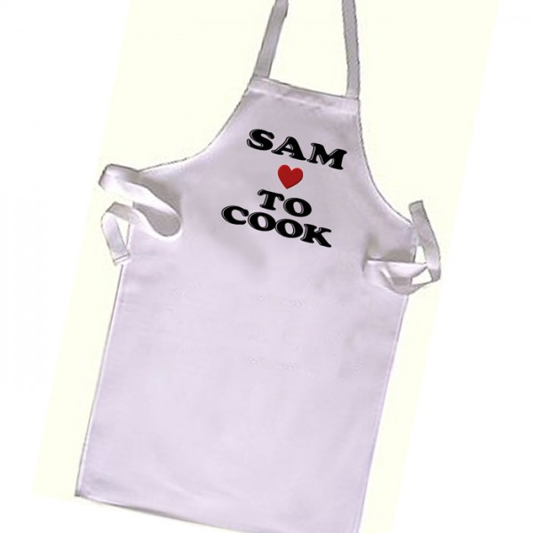 I love to cook cooking , Chef  Kids Apron. Great Gift For Your Little Girls & boys
