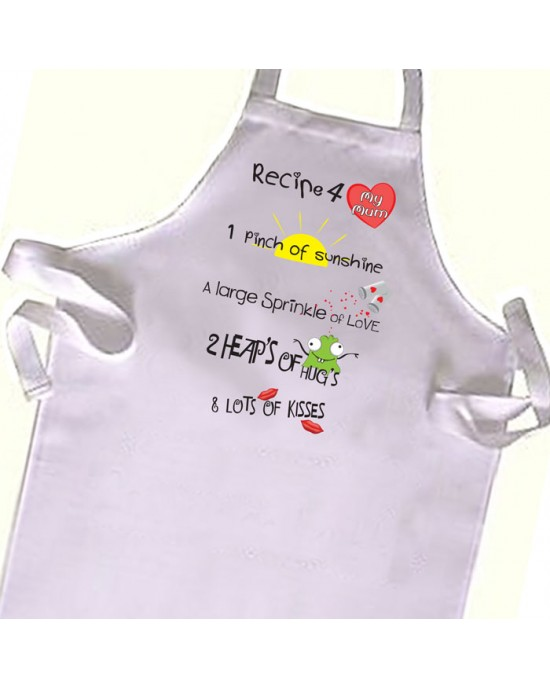 The best Mummy Recipe Cooks Apron, Chef  Kids Apron. Great Gift For Your Little Girls & boys