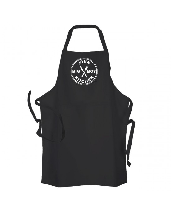 Big Boy Kitchen Personalised Apron Available in Black would be a fun gift For your man.