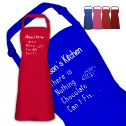 Chocolate Fix Design Personalised Colour Apron Ladies Fun Chef Kitchen Cooking Dinner, Quality Apron