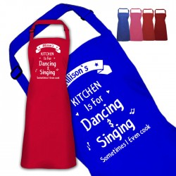 Kithcen is for dancing Fun Design Personalised Colour Apron Ladies Fun Chef Kitchen Cooking Dinner, Quality Apron