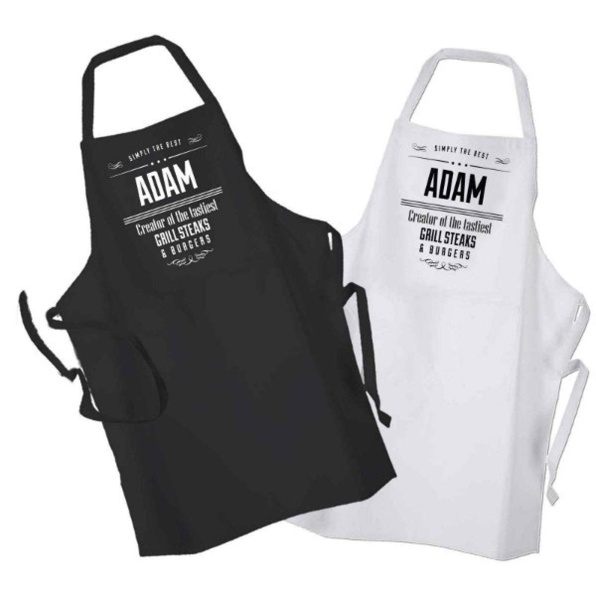Chef Personalised BBQ & Grill, Cooking, Apron Black Or White. Change ...