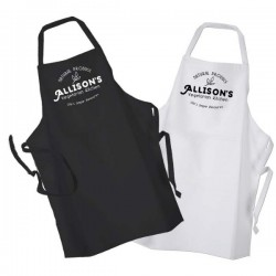 Vegetarian Chef Personalised BBQ & Grill, Cooking, Apron Black Or White. Change any Text For Your Message.