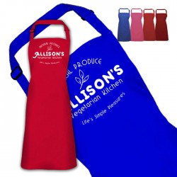 Vegitarian cook apron Personalised Colour Apron Ladies Fun Chef Kitchen Cooking Dinner, Quality Apron