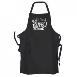 I'm The BBQ Daddy, Personalised BBQ & Grill, Summer Cooking, Apron Black. Premium Aprons in a lovely 'Heavy cotton like fabric.