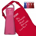 Adjectives for Mummy. Mothers day gift..Personalised Colour Apron Ladies Fun Chef Kitchen Cooking Dinner, Quality Apron