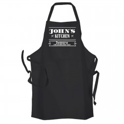 Beware Of Swearing Personalised Kitchen Apron Black.