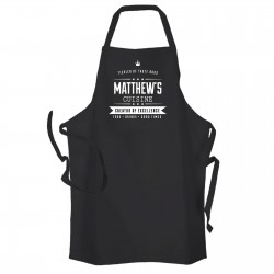 Creator of excellent cuisine, Personalised Kitchen Apron Black.