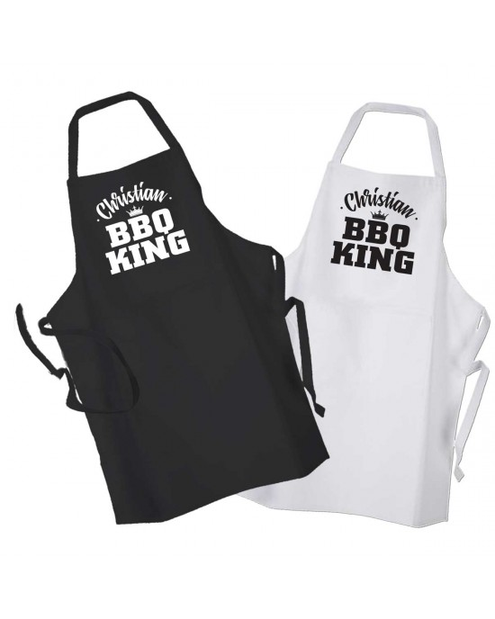 Personalised BBQ King, Adult cooking apron.