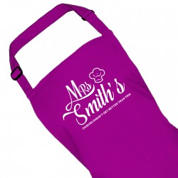 Personalised Colour Apron Ladies Mrs Fun Chef Kitchen Quality Apron