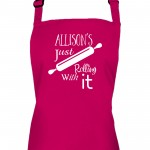 Personalised Colour Roll With It Ladies Fun Kitchen Cooking Apron