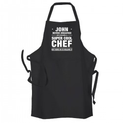 Super Cool Chef Personalised Adult cooking apron.