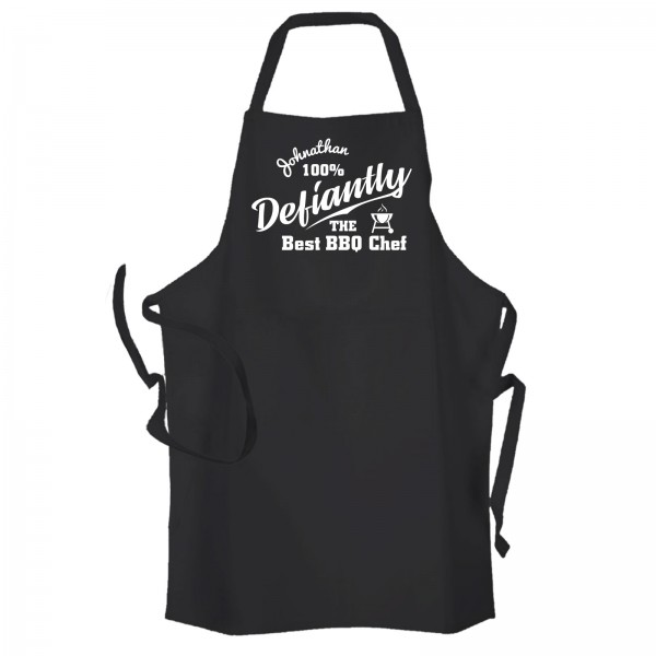 Definitely 100% The best BBQ personalised cooking Apron.