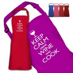 Keep Calm Cooking Personalised Colour Apron Ladies Fun Chef Kitchen Cooking Dinner, Quality Apron