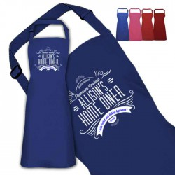 Personalised Colour Apron Ladies Fun Chef Kitchen Cooking Dinner, Quality Apron