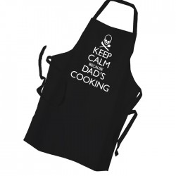 Keep Calm Dad Is Cooking Black Apron