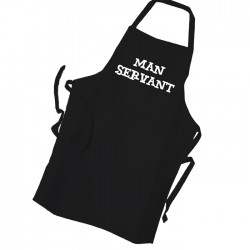 Man Servant Personalised Apron Black Or White