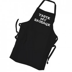 Taste My Sausage Personalised Apron Black Or White