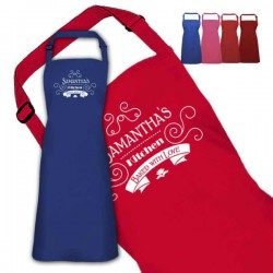 Beautiful Scrolling Design Personalised Colour Apron Ladies Fun Chef Kitchen Cooking Dinner, Quality Apron
