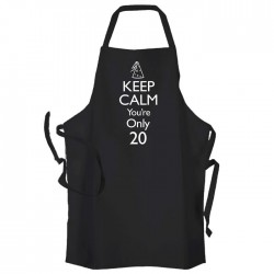 Keep Calm Your Only, Cooking, BBQ, Personalised Apron Black Or White. Party Hat Design.