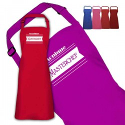 Master Chef Design Personalised Colour Apron Ladies Fun Chef Kitchen Cooking Dinner, Quality Apron