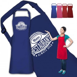 Mum's Restaurant Personalised Colour Apron Ladies Fun Chef Kitchen Cooking Dinner, Quality Apron