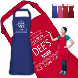 A place for fun Design Personalised Colour Apron Ladies Fun Chef Kitchen Cooking Dinner, Quality Apron