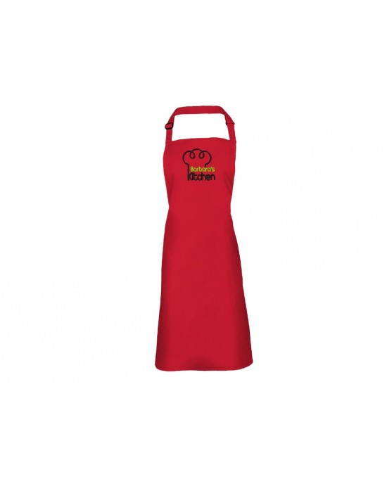 Personalised Embroidered Adult Cooking Apron. Kitchen Chef Hat design, thread colour choices.