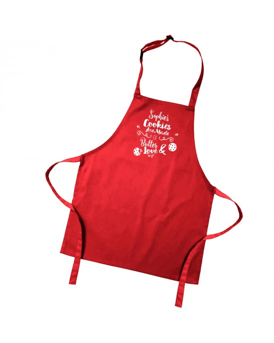 Personalised Cookie's are made with Love Children's Cooking Apron.