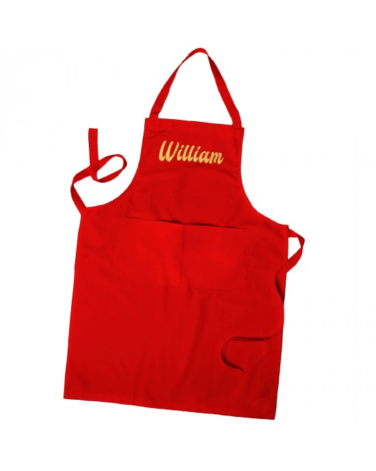 Personalised Embroidered Apron, Unisex Cooking Chef Apron Mens Apron / Ladies Apron With Pockets