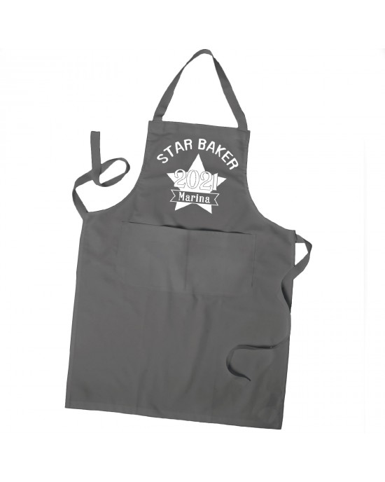 Personalised Star Baker Apron, Cooking Chef Apron Unisex Apron With Pockets Personalised Apron