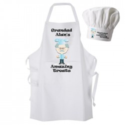 Grandad's Amazing Treats Apron & Chef Hat Set.