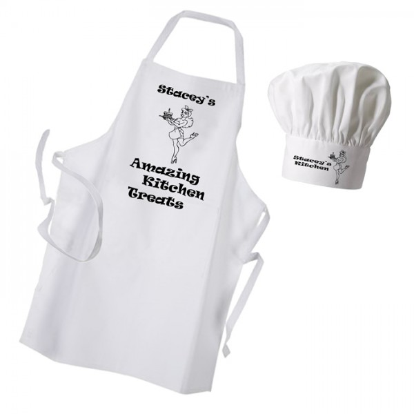 Amazing Kitchen Treats Apron & Chef Hat Set.