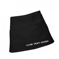 Add Your Text To This Waist  Apron. 100% Cotton Black or White