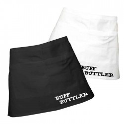 Mens Fun Buff Butler Apron. Add Spice to your Meals.100% Cotton Black or White