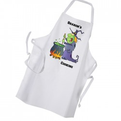 Comic Style Witch & Cauldron Personalised Apron.