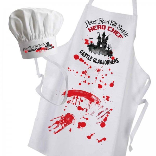 Halloween cooking apron , Perfect for Cooking at you party or BBQ Change any Text For Your Message.