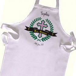 Kids First Communion / Baptism / Christening White Apron.