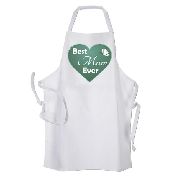 Best Mum Kitchen, Personalised Apron. Ladies Fun Chef Kitchen Cooking Dinner, Christmas Gift