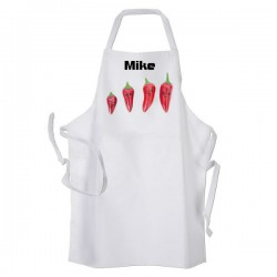 Chilli, Cooking, Kitchen, Personalised Apron.