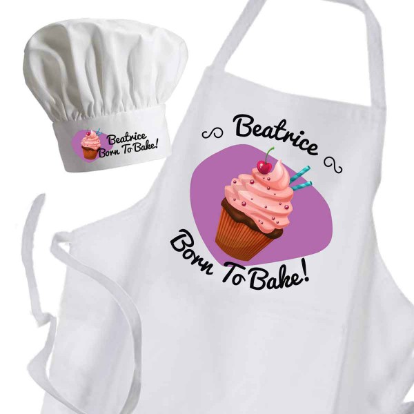 Cup Cake, Personalised Apron. Ladies Fun Chef Kitchen Cooking Dinner, Christmas Gift