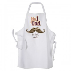 Number 1 Dad Personalised Apron. BBQ, Cooking