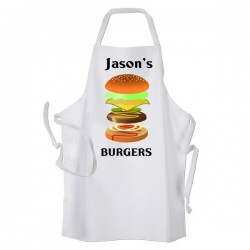 Gigantic Burger Design Personalised Apron. BBQ, Cooking