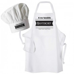 Master Chef, Personalised Apron. Unisex Fun Chef Kitchen Cooking Dinner, Christmas Gift